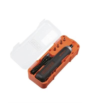 Kit Atornillador Inalámbrico 4Volt + Cargador USB + 4 Puntas | BD40K4-LA
